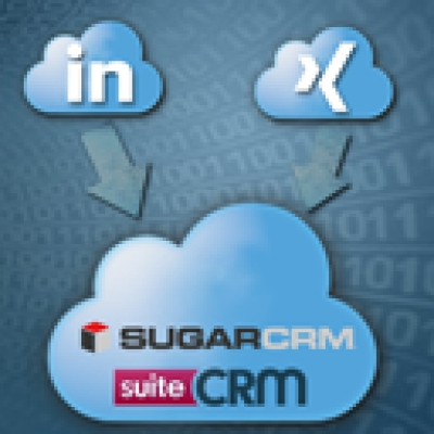 Grab leads to CRM just by a click from LinkedIn / XING