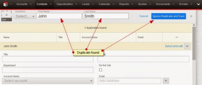 Disable duplicate check on fields in SugarCRM7
