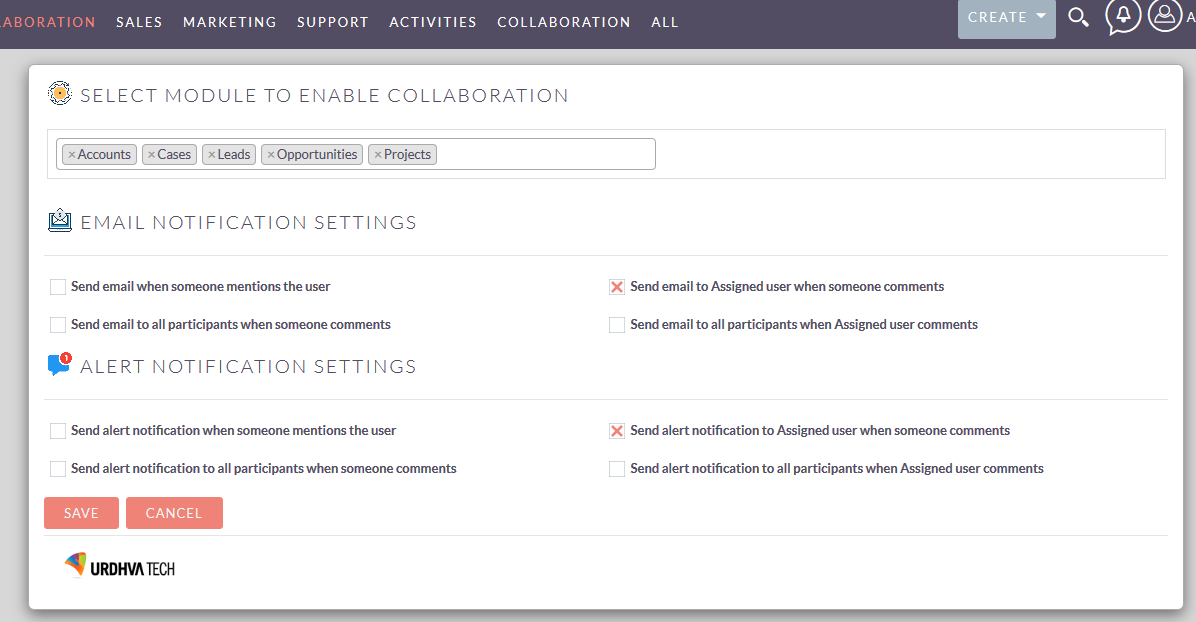 project collaboration chat configuration