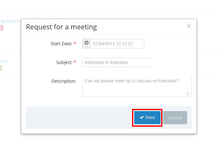 portal request for a meeting assistance