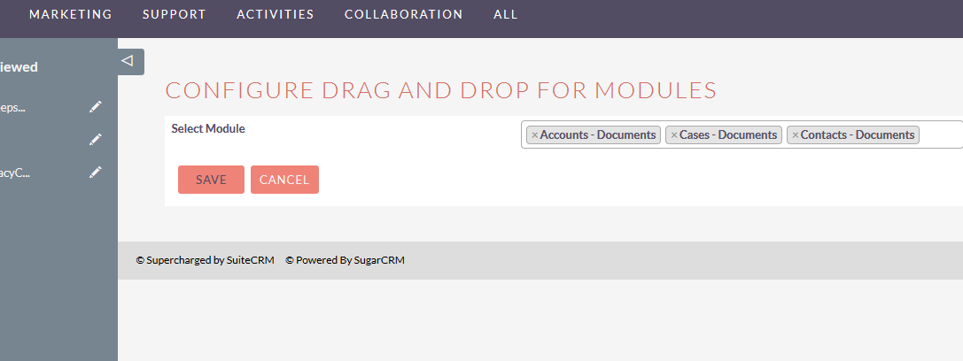 SuiteCRM for Drag and Drop multiple document upload