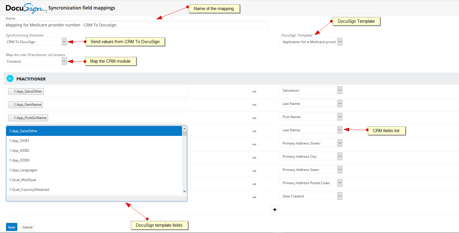 SugarCRM for DocuSign