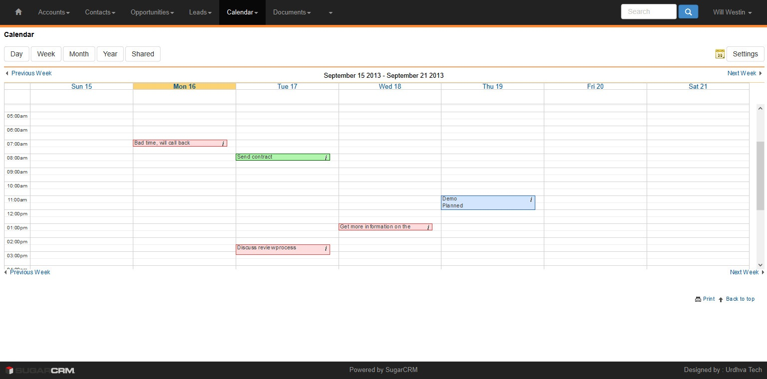 Premium Theme Calendar View Orange